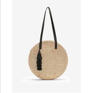 EXPRESS straw bag tassel like NEW $60